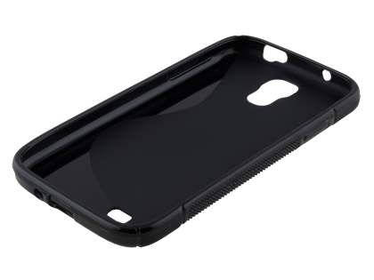 Wave Case for Samsung I9500 Galaxy S4 - Frosted Black/Black