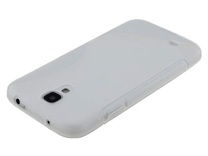 Wave Case for Samsung I9500 Galaxy S4 - Frosted Clear/Clear