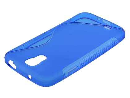 Wave Case for Samsung I9500 Galaxy S4 - Frosted Blue/Blue