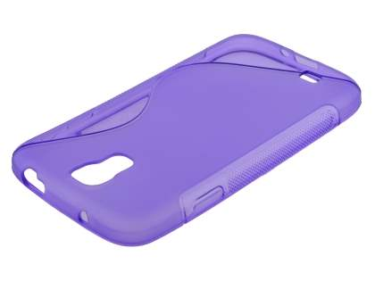 Wave Case for Samsung I9500 Galaxy S4 - Frosted Purple/Purple