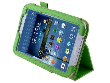 Samsung Galaxy Note 8.0 Synthetic Leather Flip Case with Fold-Back Stand - Green Leather Flip Case