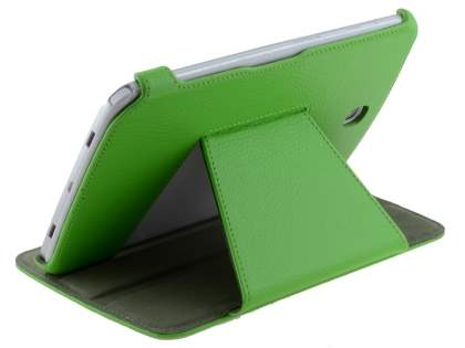 Slim Synthetic Leather Flip Cover with built-in Stand for Samsung Galaxy Note 8.0 - Green Leather Flip Case