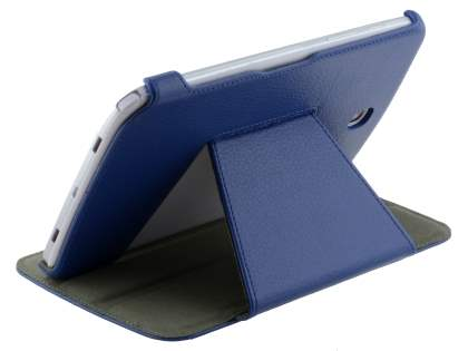 Slim Synthetic Leather Flip Cover with built-in Stand for Samsung Galaxy Note 8.0 - Dark Blue Leather Flip Case