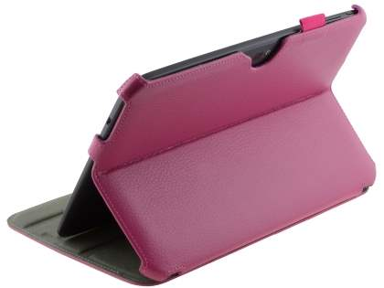 Synthetic Leather Smart Case with Multi-Angle Tilt Stand for Samsung Google Nexus 10 - Pink Leather Flip Case