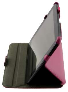 Synthetic Leather Smart Case with Multi-Angle Tilt Stand for Samsung Google Nexus 10 - Pink