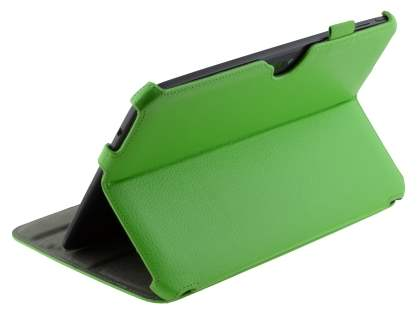 Synthetic Leather Smart Case with Multi-Angle Tilt Stand for Samsung Google Nexus 10 - Green Leather Flip Case
