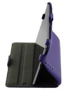 Synthetic Leather Flip Case with Multi-Angle Tilt Stand for Asus Google Nexus 7 2012 - Purple Leather Flip Case