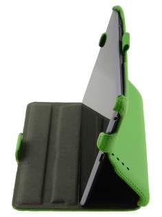Synthetic Leather Flip Case with Multi-Angle Tilt Stand for Asus Google Nexus 7 2012 - Green Leather Flip Case