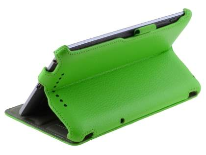 Synthetic Leather Flip Case with Multi-Angle Tilt Stand for Asus Google Nexus 7 2012 - Green