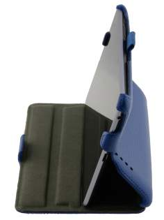 Synthetic Leather Flip Case with Multi-Angle Tilt Stand for Asus Google Nexus 7 2012 - Blue Leather Flip Case