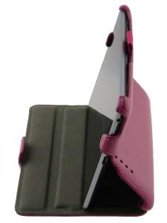 Synthetic Leather Flip Case with Multi-Angle Tilt Stand for Asus Google Nexus 7 2012 - Pink Leather Flip Case