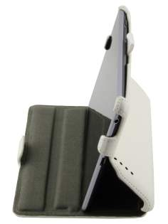 Synthetic Leather Flip Case with Multi-Angle Tilt Stand for Asus Google Nexus 7 2012 - White Leather Flip Case
