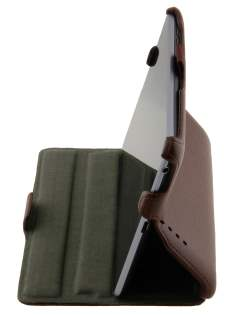 Synthetic Leather Flip Case with Multi-Angle Tilt Stand for Asus Google Nexus 7 2012 - Brown Leather Flip Case