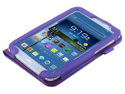 Samsung Galaxy Note 8.0 Synthetic Leather Flip Case with Fold-Back Stand - Purple