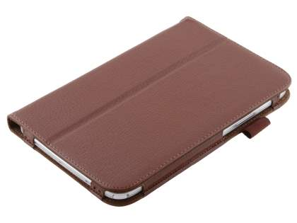 Samsung Galaxy Note 8.0 Synthetic Leather Flip Case with Fold-Back Stand - Brown