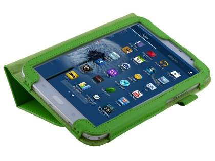 Synthetic Leather Flip Case with Fold-Back Stand for Samsung Galaxy Note 8.0 Tablet - Green
