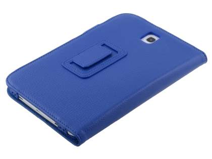 Samsung Galaxy Note 8.0 Synthetic Leather Flip Case with Fold-Back Stand - Dark Blue