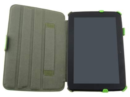 Synthetic Leather Smart Case with Multi-Angle Tilt Stand for Samsung Google Nexus 10 - Green