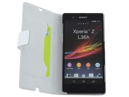 Sony Xperia Z Slim Genuine Leather Portfolio Case - Pearl White