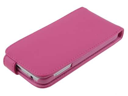 Samsung Galaxy S4 I9500 Genuine Leather Flip Case - Pink