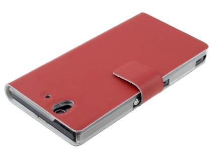 Sony Xperia Z Slim Genuine Leather Portfolio Case - Red