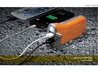 MOMAX iPower Tough Impact & Splash Resistant External Battery Pack with Dual USB Outputs for Samsung - Orange