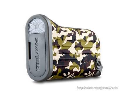 MOMAX iPower Tough Impact & Splash Resistant External Battery Pack with Dual USB Outputs for Samsung - Camouflage Power Bank