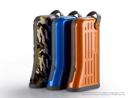 MOMAX iPower Tough Impact & Splash Resistant External Battery Pack with Dual USB Outputs for Samsung - Camouflage