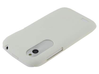 HTC Desire X Ultra Slim Case plus Screen Protector - Pearl White