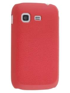 Samsung Galaxy Pocket S5300 Ultra Slim Case plus Screen Protector - Red Hard Case
