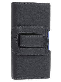 Sony Xperia Z Synthetic Leather Belt Pouch (Bumper Case Compatible) - Classic Black