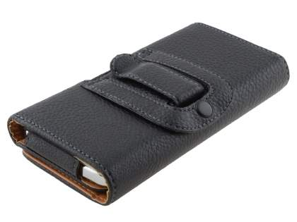 Samsung Galaxy Grand I9080 Synthetic Leather Belt Pouch (Bumper Case Compatible) - Classic Black