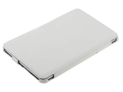 Premium Asus Google Nexus 7 2012 Slim Synthetic Leather Flip Case with Multi-Angle Tilt Stand - White