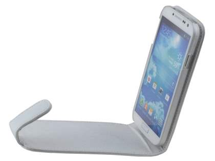 Samsung Galaxy S4 I9500 Genuine Leather Flip Case - Pearl White