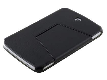 Synthetic Leather Flip Cover with Built-In Stand for Samsung Galaxy Note 8.0 Tablet - Classic Black