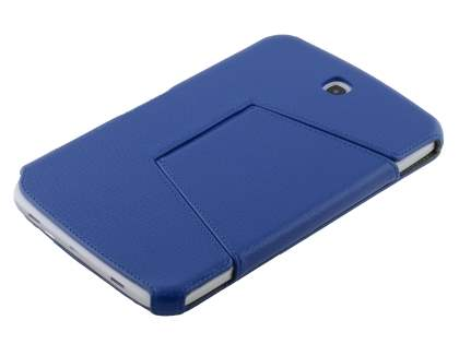 Slim Synthetic Leather Flip Cover with built-in Stand for Samsung Galaxy Note 8.0 - Dark Blue