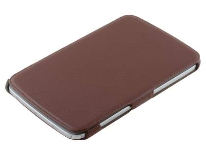Synthetic Leather Flip Cover with Built-In Stand for Samsung Galaxy Note 8.0 Tablet - Brown