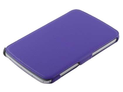 Slim Synthetic Leather Flip Cover with built-in Stand for Samsung Galaxy Note 8.0 - Purple