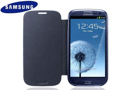 Genuine Samsung Flip Cover for Samsung I9300 Galaxy S3 - Sapphire Black Titanium