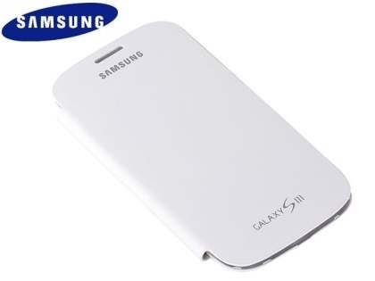 Genuine Samsung Flip Cover for Samsung I9300 Galaxy S3 - Marble White Leather Case