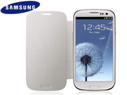 Genuine Samsung Flip Cover for Samsung I9300 Galaxy S3 - Marble White
