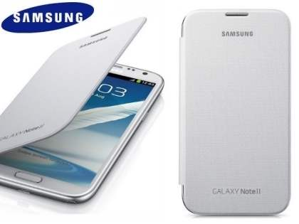 Genuine Samsung Flip Cover for Samsung Galaxy Note II - Marble White