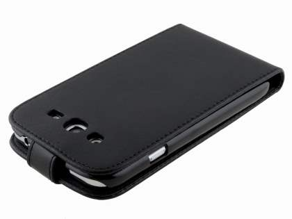 Samsung Galaxy Grand Synthetic Leather Flip Case - Black