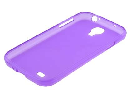 Samsung Galaxy S4 I9500 Frosted TPU Case - Purple