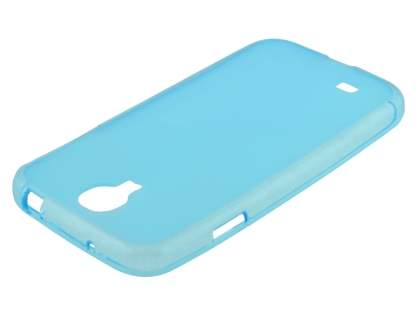 Frosted TPU Case for Samsung Galaxy S4 I9500 - Sky Blue