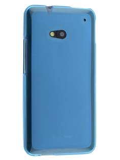 Frosted TPU Case for HTC One M7 - Sky Blue Soft Cover