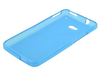 HTC One M7 Frosted TPU Case - Sky Blue