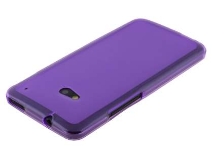 HTC One M7 Frosted TPU Case - Purple