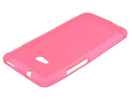 HTC One M7 Frosted TPU Case - Pink