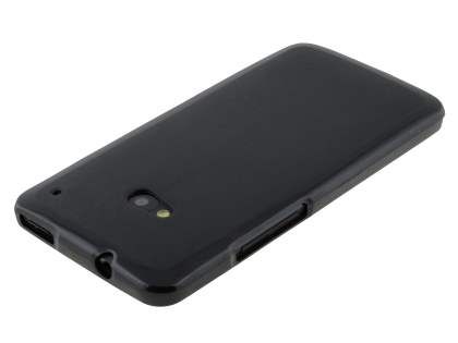 Frosted TPU Case for HTC One M7 - Classic Black